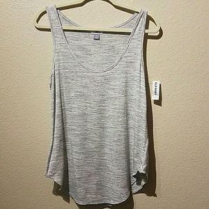 Old Navy NWT Petite Small Grey Heathered Tank